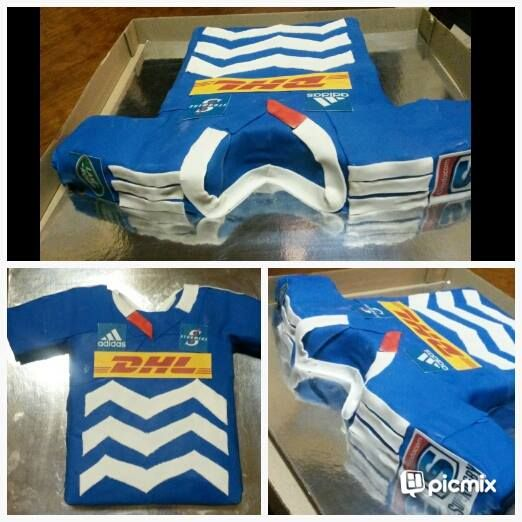 Stormers rugby jersey birthday cake
