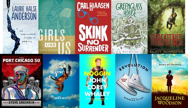 <2014 pin> 2014 longlist for the National Book Award for Young People's Literature! Which books should we absolutely include in our Mock Newbery discussion?