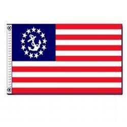 Annin U.S. Yacht Ensign 16 x 24-Inch Sewn Us Yacht Ensign Nyl-Glo Flag by Annin. $24.90. Annin 251150WE. Annin Flags are made in the USA from Annin's own specified fabrics. Annin & Co. has set the pace for flags throughout the world since 1847. All the fabrics used in Annin flags are made to strict specifications developed from extensive research, testing and long experience. A variety of flag materials satisfy specific durability requirements, budgets, appearance needs and weath...