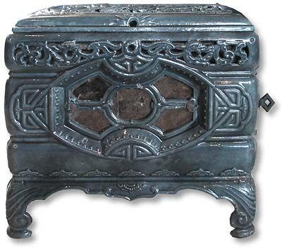 Mah Jong 1920s french wood burning stove- Twentieth Century Fireplaces uk - original stoves