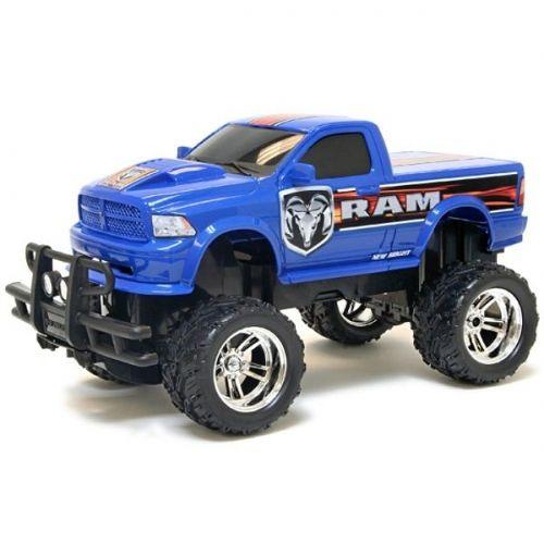 Scale Model Blue Monster Dodge Ram Truck