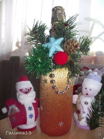 Мастер-класс Свит-дизайн Новый год Моделирование конструирование Дед Мороз и Снегурочка Бумага гофрированная фото 22
