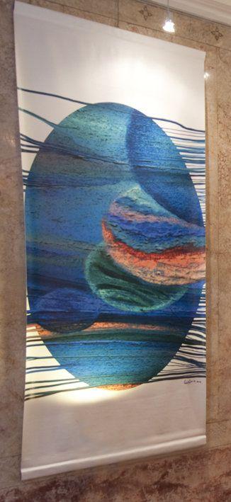 "Carina Aprile, ""TAPIZ"" Painting on Canvas"