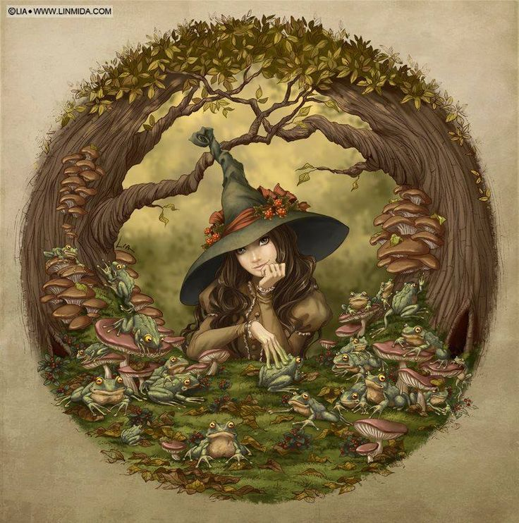 Witch With Frogs ( https://www.facebook.com/FantasyArt )