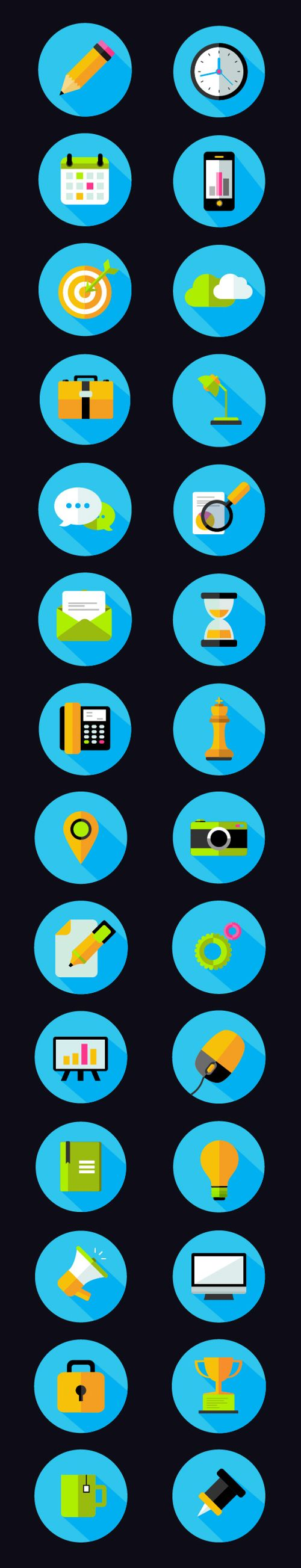 Free Flat Icons Pack (28 Icons) #freepsdicons #vectoricons #flaticons #outlineicons #uiicons