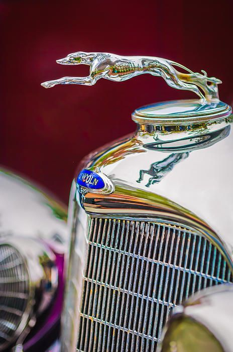 Lincoln Hood Ornament - Car Images by Jill Reger