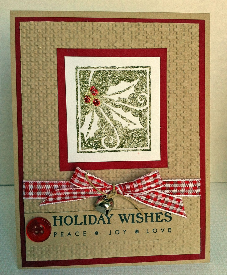 """A Christmas card (Stampin' Up!) Happiest of Holidays - LOVE, LOVE, LOVE THIS! Only it needs to say """"Merry Christmas"""". You could interchange the image."""