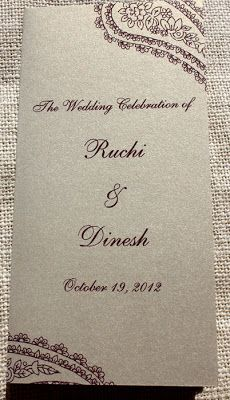 Hindu Wedding Ceremony Program