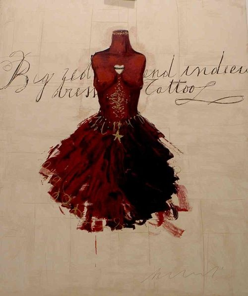 LUCA BELLANDI BIG RED DRESS