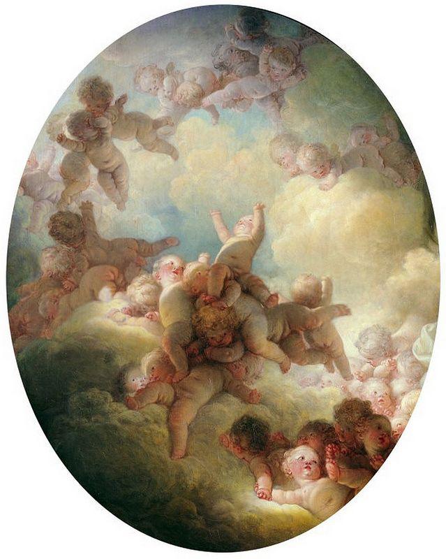 Jean-Honoré Fragonard 'A Swarm of Cupids' ca 1765-67