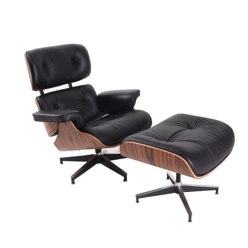 Charming Modern Classic Plywood Frame Eames Lounge Chair Genuine Leather Tufted Chair  | Level8plaza Https:/