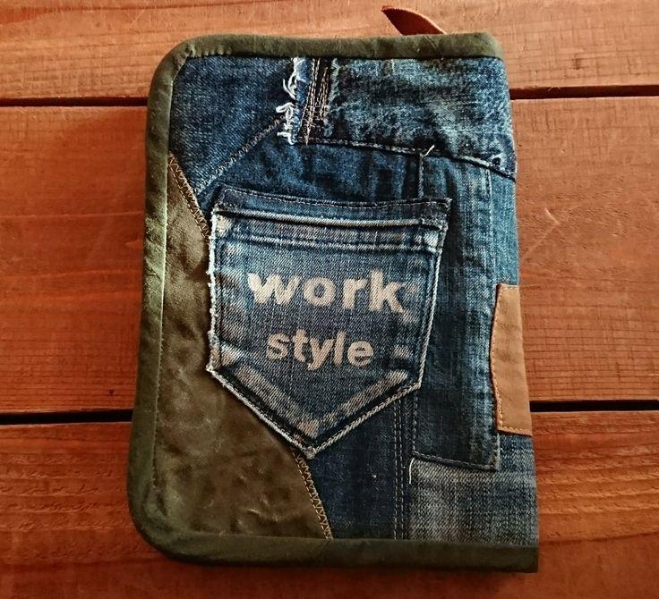 男前なデニムリメイク母子手帳ケース作りました! | KRM WORKS.の手作り日記