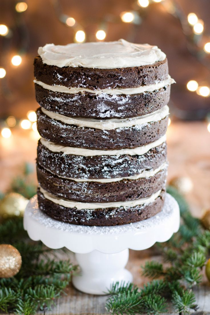 Gingerbread Layer Cake with Cinnamon Cream Cheese Frosting | Recipe ...