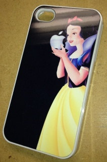iPhone 4s/4 Snow White Holding Apple Case...I know it's overdone, but I still think it's clever.