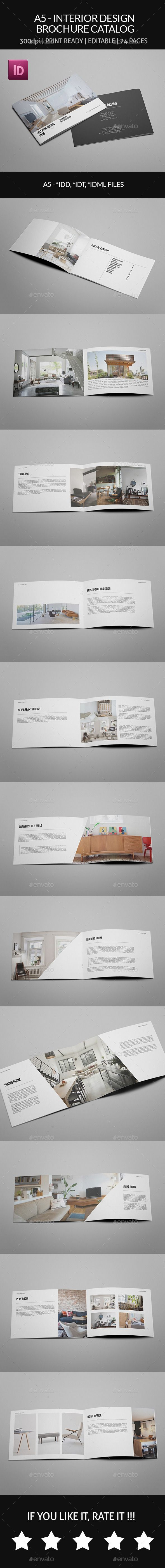 A5 Interior Design Brochure Catalog InDesign INDD Elegant Book O Available Here