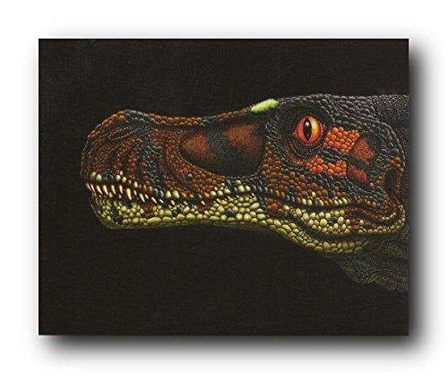 Reflect your passion for wild animals by getting home this wonderful dinosaur kids room animal wall décor fine art print poster. This wall art depicts the image of close up of dinosaur face which will make this wall art focal point for your home. It is an ultimate pick to decorate your home or office. Hurry up! Grab this wonderful wall poster for its durable quality with a high degree of color accuracy. Make your order today!