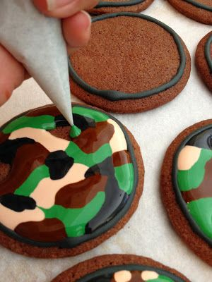 Dough and Batter: camouflage & u.s. army star cookies & royal icing recipe