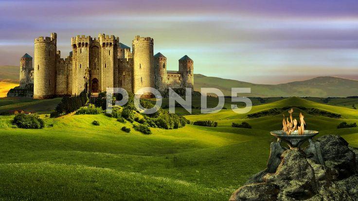 Castle Of Hyperborea - Стоковое видео   by Aleksmaster