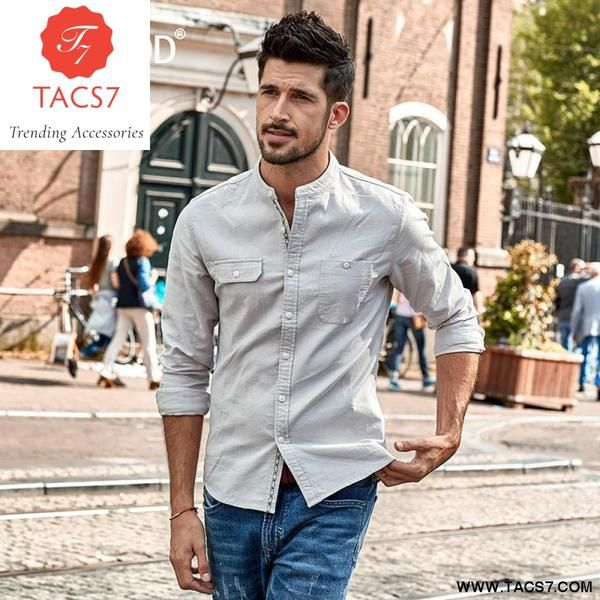 2019 Casual Shirts Men Letter Embroidered Fashion Slim Cotton Shirt Male CasualShirts for Male