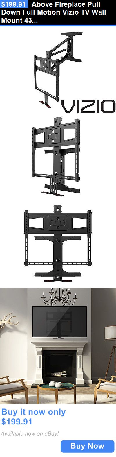 TV Mounts and Brackets: Above Fireplace Pull Down Full Motion Vizio Tv Wall  Mount 43