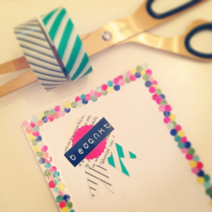 Two of my favourite things: confetti dots & washi tape.