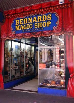 Bernard's Magic Shop, Melbourne.  Been there since 1937