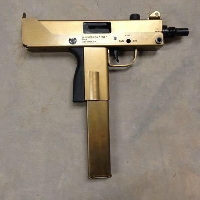 Gold Uzi | Cool images | Pinterest | Gold