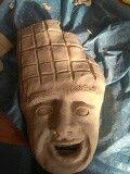 Hier heb ik een deel van de chocolade reep gemaakt en het gezicht glad gemaakt ✨🍫