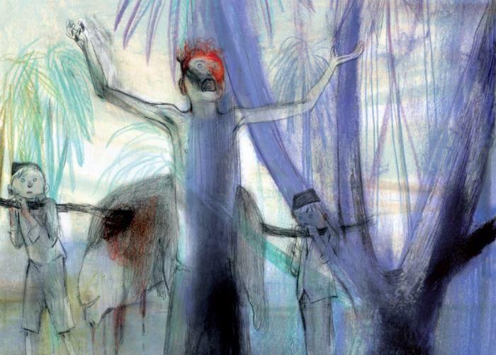 """""""El Señor de las Moscas"""" es una alegoría aterradora, la obra maestra de William Golding. Las ilustraciones del virtuoso artista argentino Jorge González transitan desde el bucolismo dictado por la naturaleza a la pavorosa incertidumbre a que da lugar la inocencia."""