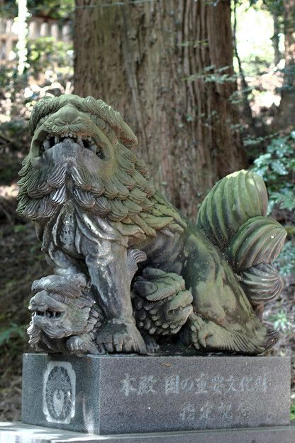高千穂神社 子持ち狛犬