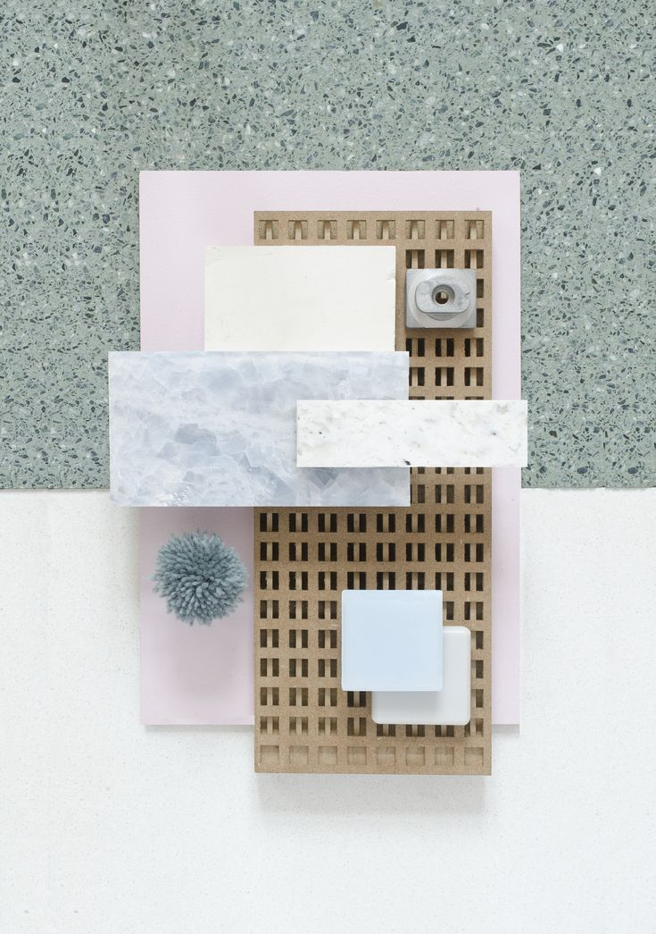 Material Mood of the week ~ Wood Details & Soft Pink #decustik #wood #lazercut # onyx #grey #blue #pink #color #corian #smileplastic #resycled #material #interior #design #architecture #materialmood #moodboard #inspiration #studiodavidthulstrup