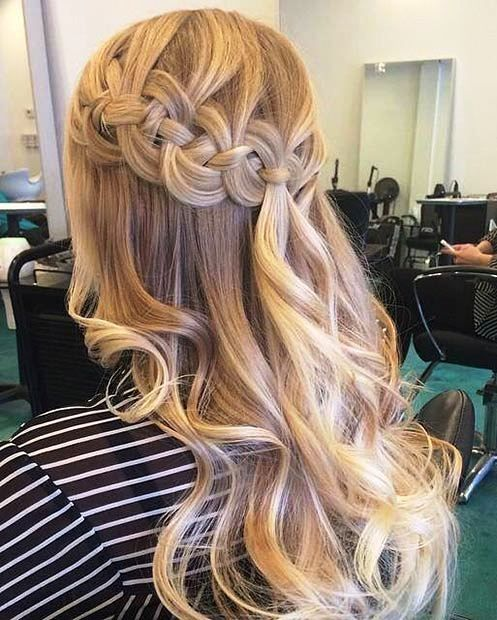 blonde hair up styles 31 gorgeous half up half hairstyles crown braids 7069 | 029aa4f76a4fdfdae3adf66d9706a2cb