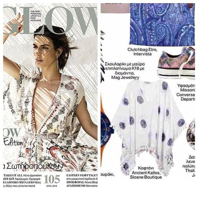 "The ""ancient coins"" caftan featuring at @glowmagazine  June issue !!! Thank you !!!#ancientkallos#resortwear#hellas#fashion#magazine#press"