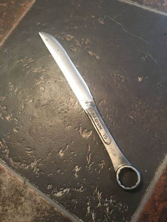 Hand forged wrench knife