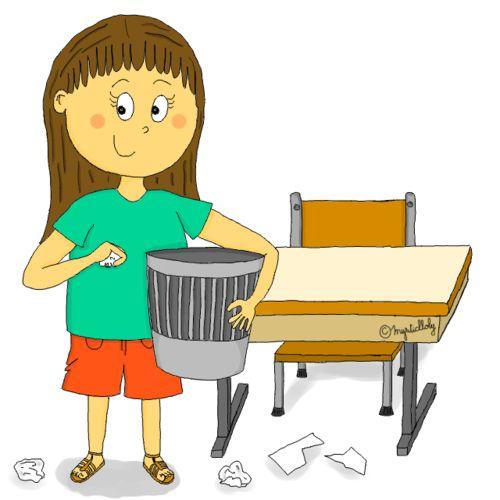 Dessin - Ramasser les papiers