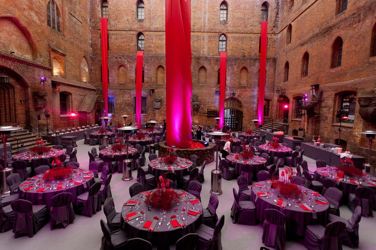 Raspberry wedding in Teutonic  Knights castle in Poland, Gniew.
