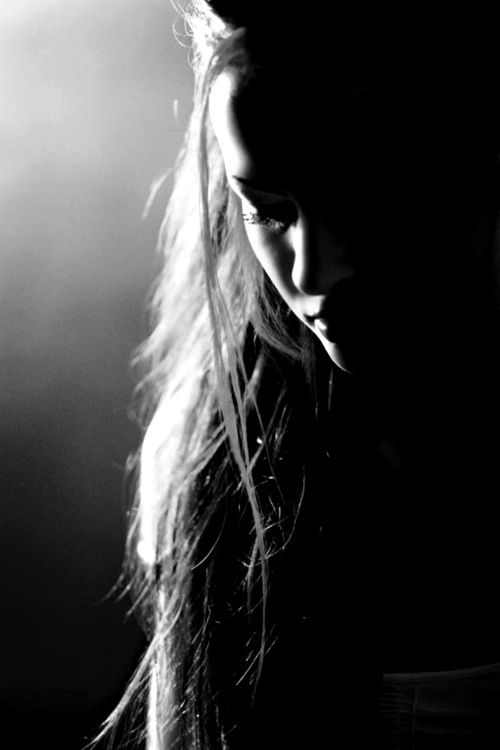 Top 10 artistic black and white female portraits game of the light shadow