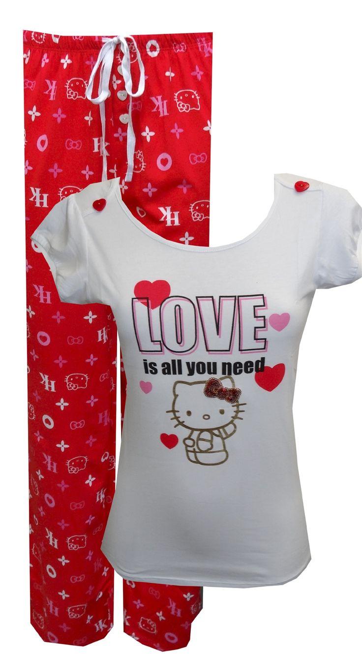 Hello Kitty Love Is All You Need Pajama