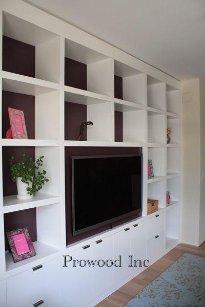 Custom Media Cabiet / Custom Bookcase Manhattan / Cabinet Maker NYC / Media Cabinet