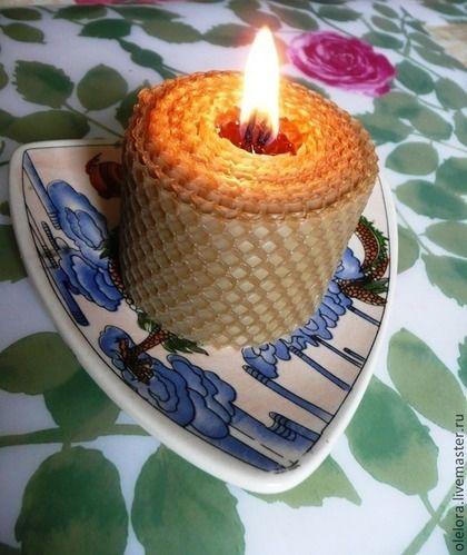 Толстые свечи из вощины - жёлтый,Свечи,свеча,свечи ручной работы,экосвечи