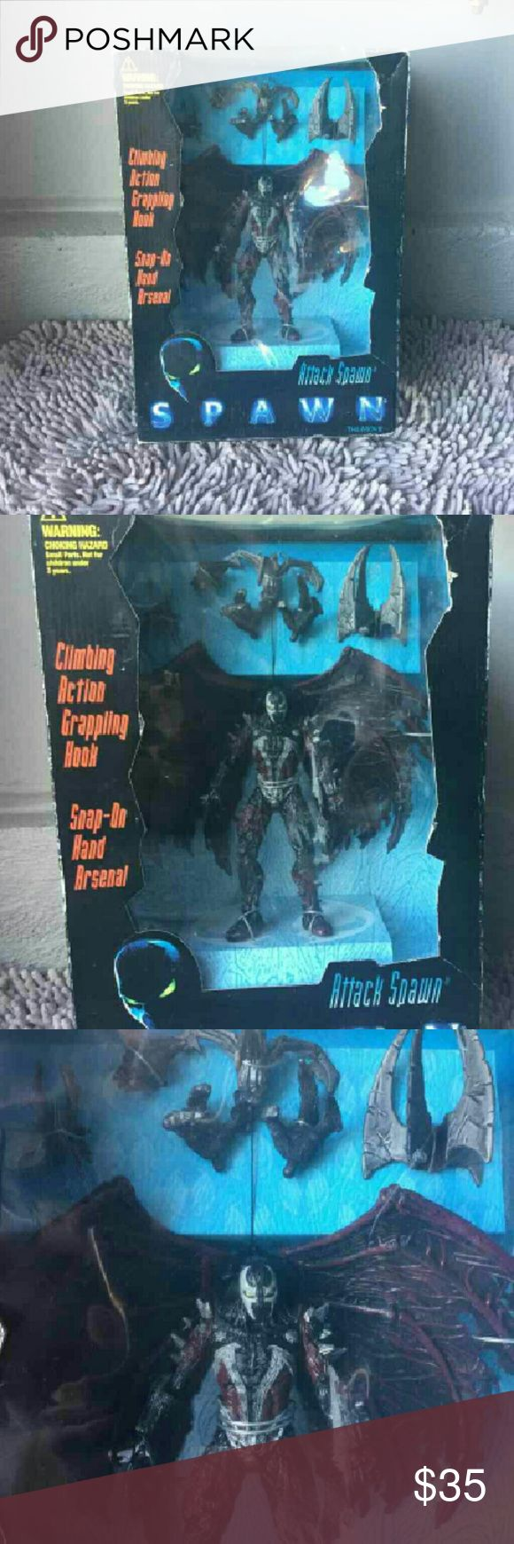 Spawn Attack Brand new unopened box McFarlane/spawn Attack Spawn 1997, box have edge water.thanks. Mcfarlane Other