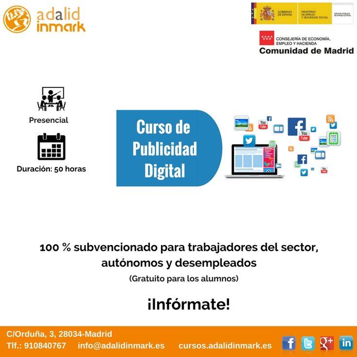 #Curso de #Publicidad Digital gratuito para #trabajadores del sector, #autónomos y #desempleados.