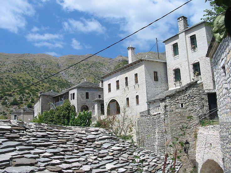 Epirus N.-Tzoumerko Syrrako-houses