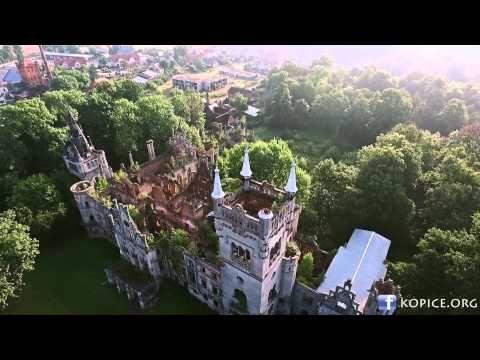 Pałac w Kopicach z lotu ptaka - zrujnowana perła Opolszczyzny - YouTube