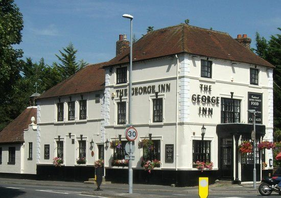 The George Inn, Portsdown Hill, is an 18th Century Grade II Listed pub. Fabulouse views from the outside seating area.