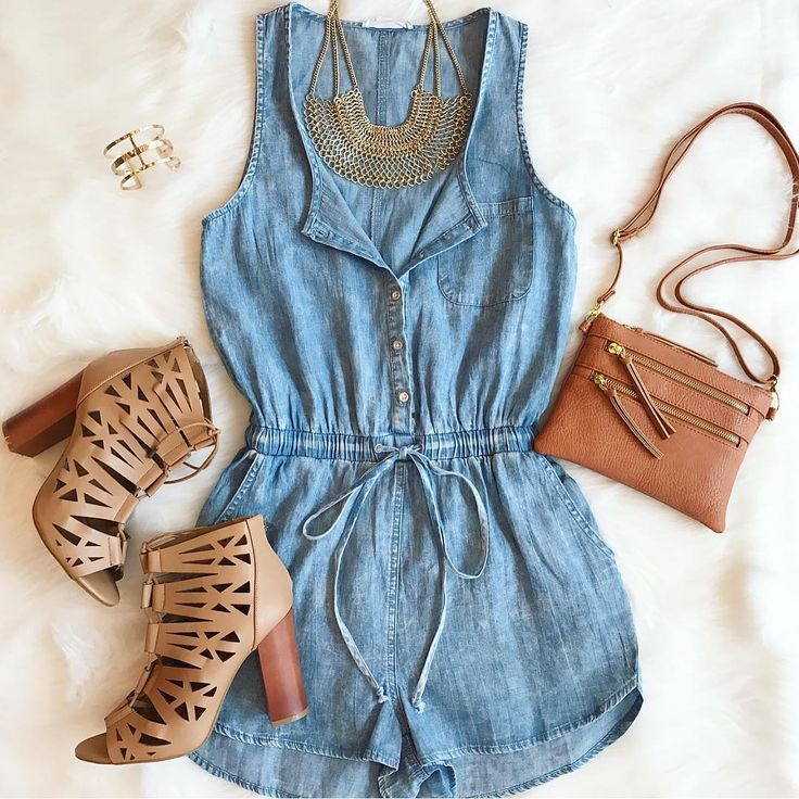 Stay cool this summer with our classic denim romper  its the perfect look for all the road trips and festivals this summer has in store!