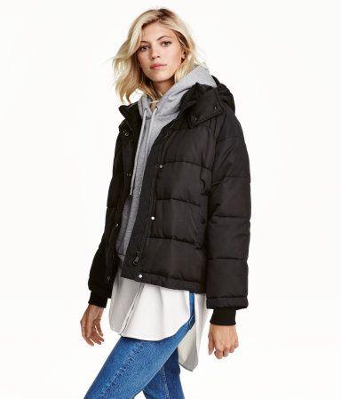 Wattierte Jacke | Schwarz | Damen | H&M DE