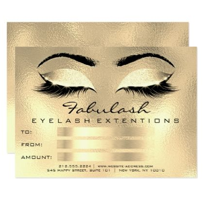 #Lashes Browns Gold Makeup Artist Certificate Gift Card - cyo customize design idea do it yourself diy