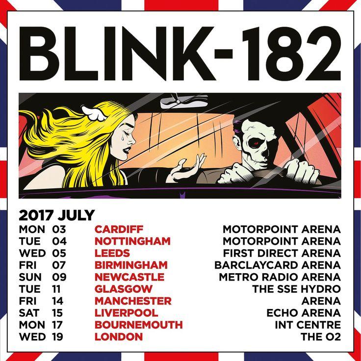 blink-182 announces UK Tour Dates 2017 #blink182 #blink182tour #california