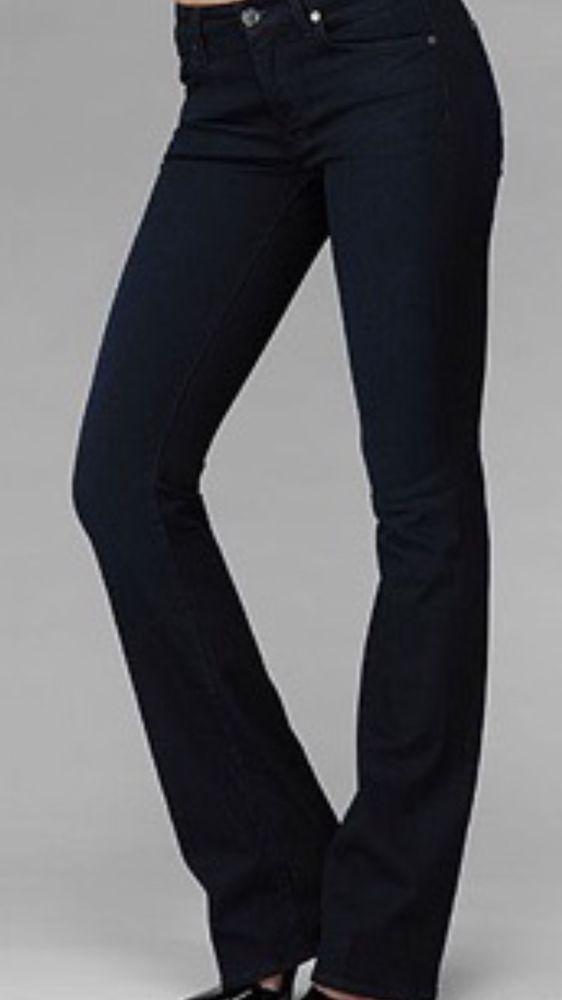 7 For All Mankind Kimmie Curvy Sexy  Women's Straight Jeans Sz 26 X 33 New! $225 #7ForAllMankind #StraightLeg